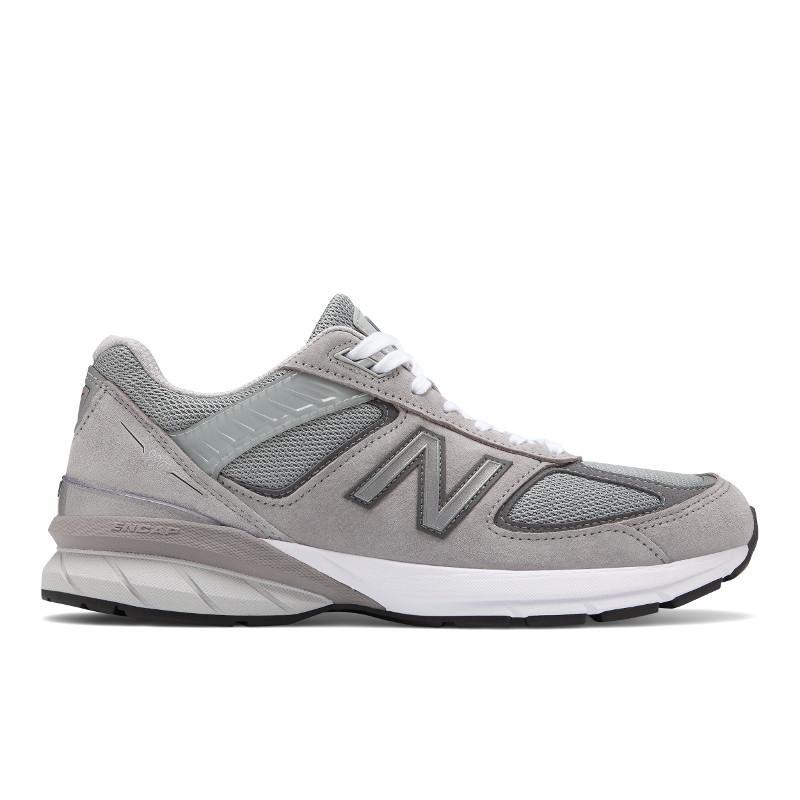 New Balance Mens 990v5 Running Shoes Wide 2e Width Grey/Castlerock