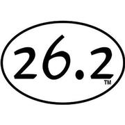26.2 OVAL DECAL - WHITE WITH BLACK PRINT WHITE.WITH.BLACK