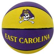 BADEN MINI RUBBER BASKETBALL - EAST CAROLINA ECU PIRATES - 7-INCH PURPLE.GOLD