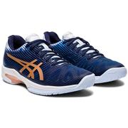 ASICS WOMEN`S SOLUTION SPEED FF TENNIS SHOES - PEACH/ROSE GOLD 413.PEACOAT.ROSEGOLD