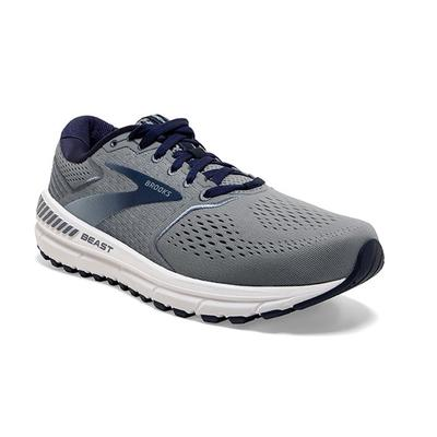 BROOKS MEN`S BEAST `20 RUNNING SHOES - BLUE/GREY/PEACOAT