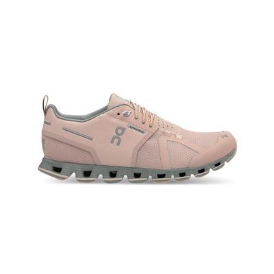 ON RUNNING WOMEN`S CLOUD 2.0 WATERPROOF RUNNING SHOES - ROSE/LUNAR