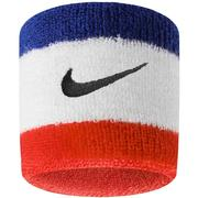 NIKE SWOOSH WRISTBANDS - RED/WHITE/BLUE 620.RED.WHITE.BLUE