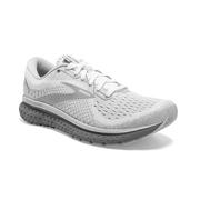 BROOKS WOMEN`S GLYCERIN 18 RUNNING SHOES - WIDE (D) - WHITE/GREY/PRIMER