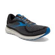 BROOKS MEN`S GLYCERIN 18 RUNNING SHOES - WIDE (2E) - BLACK/EBONY/BLUE