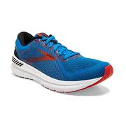 BROOKS MEN`S TRANSCEND 7 RUNNING SHOES - MAZARINE/BLACK/RED