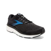 BROOKS MEN`S DYAD 11 RUNNING SHOES - EXTRA WIDE (4E) - BLACK/EBONY/BLUE