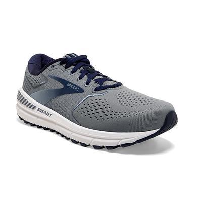 BROOKS MEN`S BEAST `20 RUNNING SHOES - WIDE (2E) - BLUE/GREY/PEACOAT