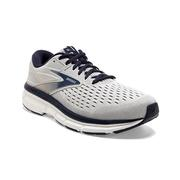 BROOKS MEN`S DYAD 11 RUNNING SHOES - EXTRA WIDE (4E) - ANTARCTICA/GREY/PEACOAT 071.ANTARCTICA.GREY