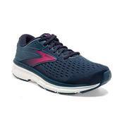 BROOKS WOMEN`S DYAD 11 RUNNING SHOES - EXTRA WIDE (2E) - BLUE/NAVY/BEETROOT