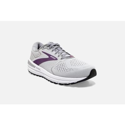 BROOKS WOMEN`S ARIEL `20 RUNNING SHOES - OYSTER/ALLOY/GRAPE