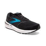 BROOKS WOMEN`S ARIEL `20 RUNNING SHOES - WIDE (D) - BLACK/EBONY/BLUE