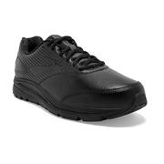 BROOKS MEN`S ADDICTION WALKER 2 WALKING SHOES - NARROW (B) - BLACK/BLACK