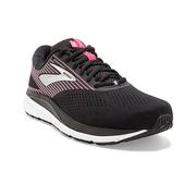 BROOKS WOMEN`S ADDICTION 14 RUNNING SHOES - NARROW (2A) - BLACK/PINK/SILVER