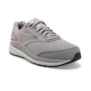 BROOKS WOMEN`S ADDICTION WALKER SUEDE WALKING SHOES - ALLOY/OYSTER/PEACH 007.ALLOY.OYSTER.PCH