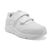BROOKS WOMEN`S ADDICTION WALKER V-STRAP 2 WALKING SHOES - WIDE (D) - WHITE/WHITE