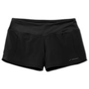 BROOKS WOMEN`S CHASER 3-INCH SHORT - BLACK