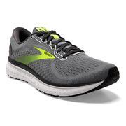 BROOKS MEN`S GLYCERIN 18 RUNNING SHOES - PRIMER GREY/EBONY/NIGHTLIFE 025.GREY.EBONY.NTLFE