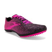 BROOKS WOMEN`S MACH 19 SPIKELESS CROSS COUNTRY SHOES - BLACK/HOLLYHOCK/PINK 063.BLACK.HOLLY.PINK