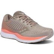 SAUCONY WOMEN`S GUIDE 13 RUNNING SHOES - MOONROCK/CORAL