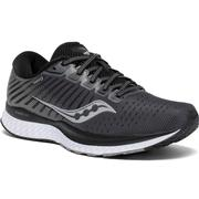 SAUCONY WOMEN`S GUIDE 13 RUNNING SHOES - WIDE (D) - BLACK/WHITE BLACK.WHITE