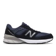 NEW BALANCE MEN`S 990V5 RUNNING SHOES - EXTRA WIDE (4E) - NAVY/SILVER NV.NAVY.SILVER