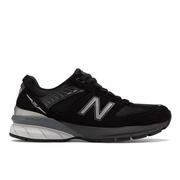 NEW BALANCE WOMEN`S 990V5 RUNNING SHOES - WIDE (D) - BLACK/SILVER
