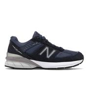 NEW BALANCE WOMEN`S 990V5 RUNNING SHOES - WIDE (D) - NAVY/SILVER