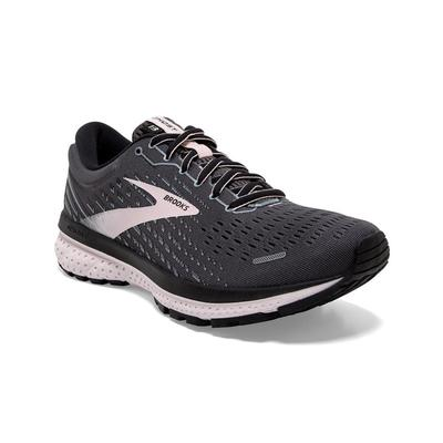 BROOKS WOMEN`S GHOST 13 RUNNING SHOES - BLACK/PEARL/HUSHED VIOLET