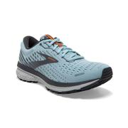 BROOKS WOMEN`S GHOST 13 RUNNING SHOES - LIGHT BLUE/BLACKENED PEARL/WHITE