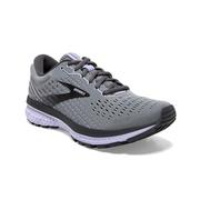 BROOKS WOMEN`S GHOST 13 RUNNING SHOES - WIDE (D) - GREY/BLACKENED PEARL/PURPLE