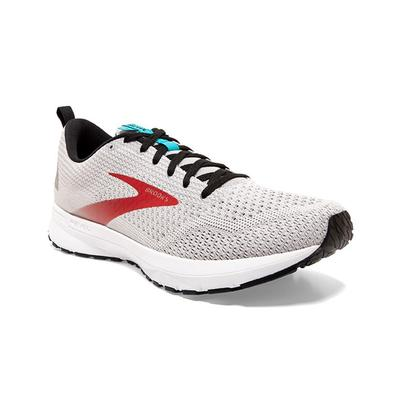 BROOKS MEN`S REVEL 4 RUNNING SHOES - GREY/BLACK/CAPRI