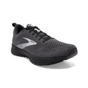 BROOKS MEN`S REVEL 4 RUNNING SHOES - EBONY/BLACK/GREY