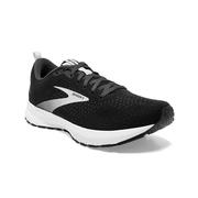 BROOKS MEN`S REVEL 4 RUNNING SHOES - BLACK/OYSTER/SILVER 063.BLACK.OYST.SILV