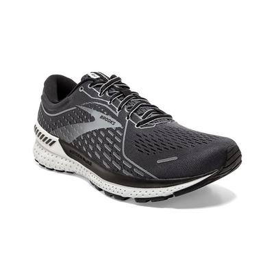 BROOKS MEN`S ADRENALINE GTS 21 RUNNING SHOES - BLACKENED PEARL/BLACK/GREY