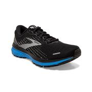 BROOKS MEN`S GHOST 13 RUNNING SHOES - BLACK/GREY/BLUE
