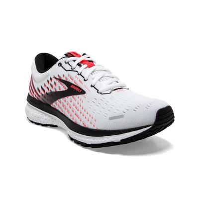BROOKS WOMEN`S GHOST 13 RUNNING SHOES - WHITE/PINK/BLACK