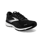 BROOKS WOMEN`S GHOST 13 RUNNING SHOES - WIDE (D) - BLACK/BLACKENED PEARL/WHITE