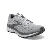 BROOKS WOMEN`S GHOST 13 RUNNING SHOES - WIDE (D) - ALLOY/OYSTER/WHITE
