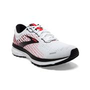 BROOKS WOMEN`S GHOST 13 RUNNING SHOES - WIDE (D) - WHITE/PINK/BLACK