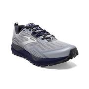 BROOKS MEN`S CASCADIA 15 TRAIL RUNNING SHOES - EBONY/SILVER/DEEP COBALT