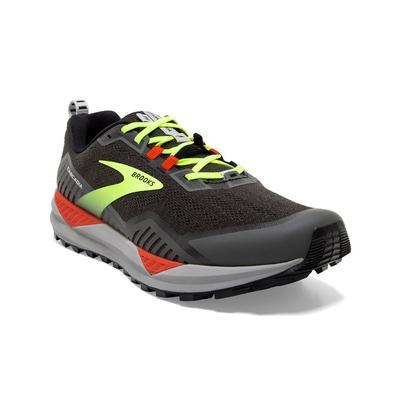 BROOKS MEN`S CASCADIA 15 TRAIL RUNNING SHOES - WIDE (2E) - BLACK/RAVEN/CHERRY