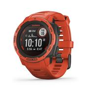 GARMIN INSTINCT SOLAR EDITION RUGGED GPS SMARTWATCH - FLAME RED (45MM) FLAME.RED