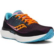 SAUCONY WOMEN`S TRIUMPH 18 RUNNING SHOES - FUTURE BLACK