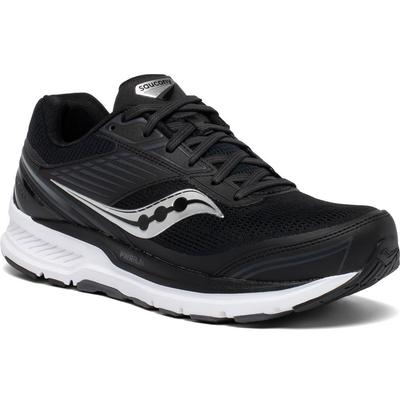SAUCONY MEN`S ECHELON 8 RUNNING SHOES - EXTRA WIDE (4E) - BLACK/WHITE