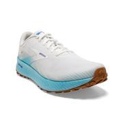 BROOKS MEN`S CATAMOUNT TRAIL RUNNING SHOES - WHITE/ICED AQUA/BLUE