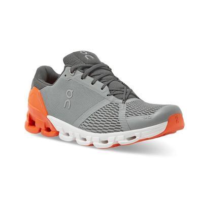 ON RUNNING MEN`S CLOUDFLYER 2.0 RUNNING SHOES - GREY/ORANGE